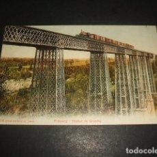 Postales: FRIBURGO VIADUCTO Y TREN FERROCARRIL POSTAL. Lote 128389023