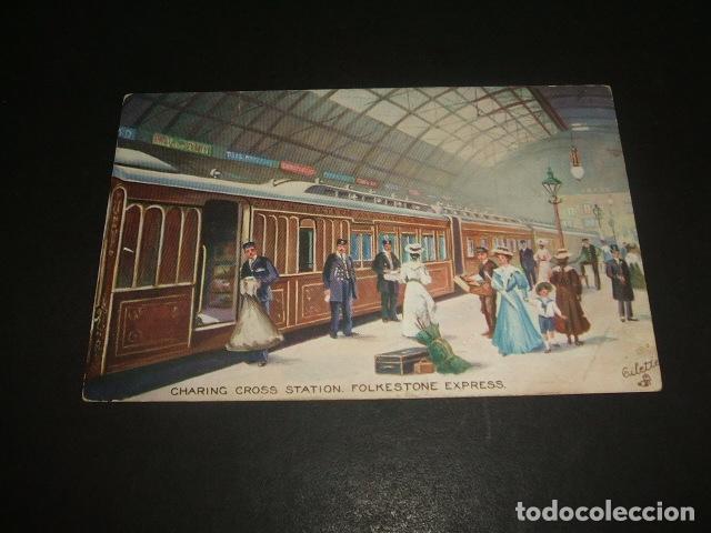 LONDRES ESTACION TREN FERROCARRIL POSTAL (Postales - Postales Temáticas - Trenes y Tranvías)