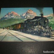 Postales: GOTHARD ESTACION TREN FERROCARRIL POSTAL. Lote 128389111