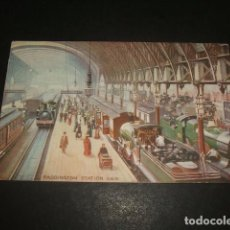 Postales: LONDRES ESTACION TREN FERROCARRIL POSTAL. Lote 128389139