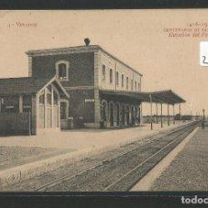 Postales: VINARÒS / VINAROZ - ESTACIÓN DEL FERROCARRIL - P26230. Lote 128479883