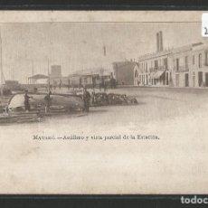 Postales: MATARÓ - A. MAURI 69 - ASTILLERO Y VISTA PARCIAL DE LA ESTACIÓN - P26232. Lote 128479947
