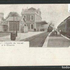 Postales: MASNOU - A. MAURI 73 - LLEGADA DE TRENES A LA ESTACIÓN - P26231. Lote 128480035