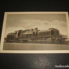 Postales: FERROCARRILES ESPAÑOLES ANTIGUA LOCOMOTORA TIPO MONTAÑA 2 4 1 DE M Z A 1928 MAQUINISTA TERRESTRE BAR. Lote 128487671