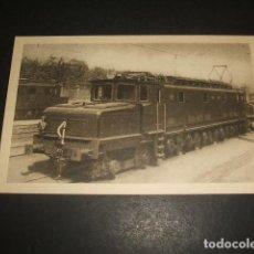 Postales: FERROCARRILES ESPAÑOLES LOCOMOTORA ELECTRICA PARA TRENES RAPIDOS 1947. Lote 128487835