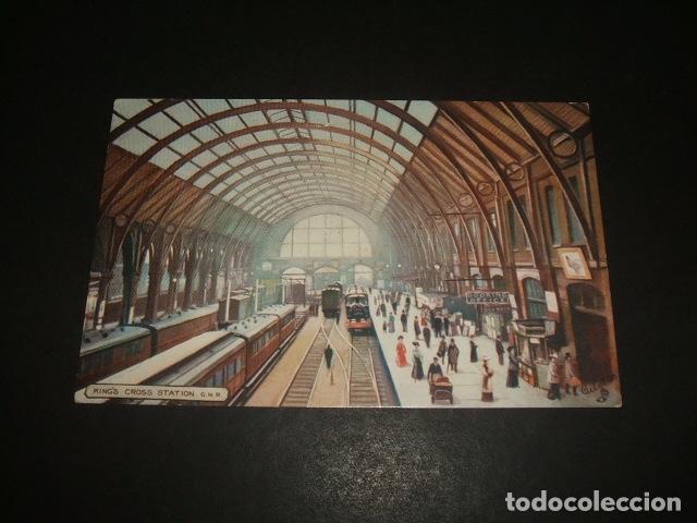 LONDRES ESTACION DE TREN POSTAL (Postales - Postales Temáticas - Trenes y Tranvías)