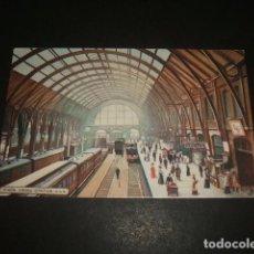Postales: LONDRES ESTACION DE TREN POSTAL. Lote 128487971