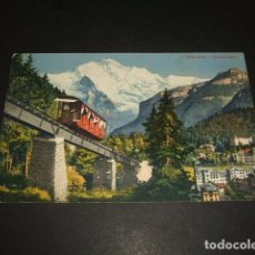 Postales: SUIZA FUNICULAR FERROCARRIL POSTAL. Lote 128579763