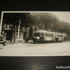 Postales: BARCELONA POSTAL FOTOGRAFICA POR INGLES BURROWS TRANVIA R. CATALUÑA P. ESPAÑA COLLBLANCH AÑOS 40-50. Lote 128950503