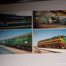 Postales - Lote 4 postales Renfe. Serie TD-7, TD-1, TC-3, E-3, todas sin circular - 131487646