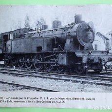 Postales: LOCOMOTORA 242F-0221 CONSTRUÍDA PARA LA CÍA M.Z.A. POR LA MAQUINISTA, DURANTE LOS AÑOS 1923/24. SOPO. Lote 133510018