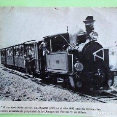 Postales: LOCOMOTORA 030, Nº 6, CONSTRUÍDA POR ST. LEONARD EN EL AÑO 1892 PARA LOS FERROCARRILES VASCO NAVARRO. Lote 133510045