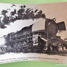 Postales: LA CONDEDERACIÓN 242F-2003, CONSTRUÍDA POR LA MAQUINISTA EN 1956, PARA LA CÍA RENFE. SOPORTE PAPEL.. Lote 133510053