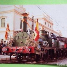 Postales: TREN DEL CENTENARIO. FOTO CON SEÑALES DE HABER ESTADO PEGADA. NUEVA. COLOR. Lote 133510061