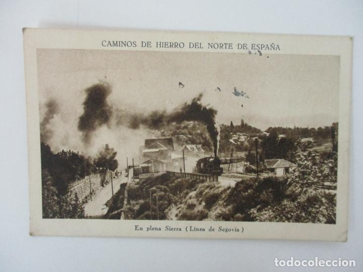Postales: Tarjeta Postal - Caminos de Hierro del Norte de España - En Plena Sierra, Linea de Segovia - Foto 3 - 135290078