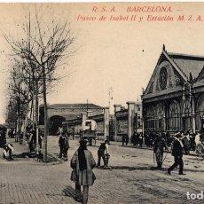 Postales: ANTIGUA ESTACIÓN DE MZA DE BARCELONA. Lote 137366382