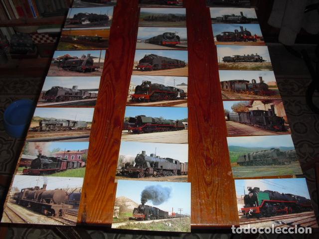 24 POSTALES LOCOMOTORAS ESPAÑOLAS A VAPOR - (Postales - Postales Temáticas - Trenes y Tranvías)