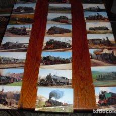 Postales: 24 POSTALES LOCOMOTORAS ESPAÑOLAS A VAPOR -. Lote 138032338