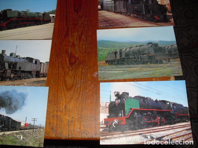 Postales: 24 POSTALES LOCOMOTORAS ESPAÑOLAS A VAPOR - - Foto 2 - 138032338