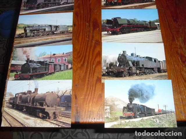 Postales: 24 POSTALES LOCOMOTORAS ESPAÑOLAS A VAPOR - - Foto 3 - 138032338