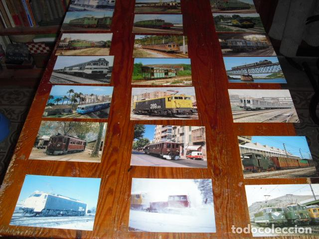 21 POSTALES LOCOMOTORAS ELÉCTRICAS ESPAÑOLAS - (Postales - Postales Temáticas - Trenes y Tranvías)