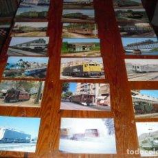 Postales: 21 POSTALES LOCOMOTORAS ELÉCTRICAS ESPAÑOLAS -. Lote 138037782