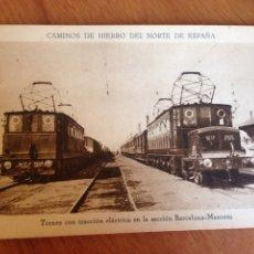 Postales: CAMINOS DE HIERRO DEL NORTE DE ESPAÑA. Lote 138625234