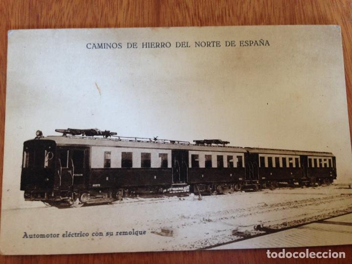 AUTOMOTOR ELÉCTRICO CON SU REMOLQUE (Postales - Postales Temáticas - Trenes y Tranvías)