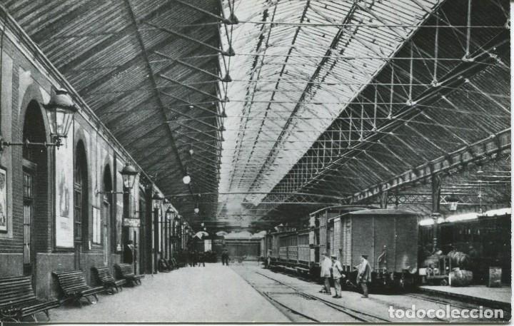 BARCELONA-INTERIOR DE LA ESTACIÓN DE FRANCIA-1912-FOTOGRÁFICA CUYAS (Postales - Postales Temáticas - Trenes y Tranvías)