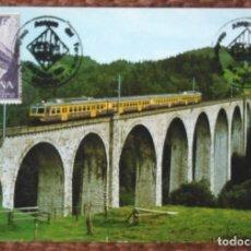 Postales: FERROCARRIL - CUÑO AMIGOS DEL FERROCARRIL - VALENCIA 1982. Lote 140289474
