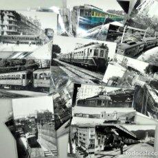 Postales: ARCHIVO CUYÁS 41 FOTOGRAFÍAS DE TRENES, TRANVÍAS, ESTACIONES FERROCARRIL... DE BARCELONA. Lote 141855182