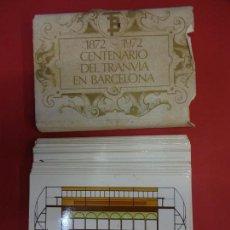 Postales: 1872-1972 CENTENARIO DEL TRANVIA EN BARCELONA. SERIE COMPLETA DE 56 POSTALES. Lote 143812850