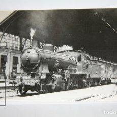 Postales: POSTAL DE TREN - Nº 4010 - LOCOMOTORA VAPOR SERIE 130-2112 - EST. DELICIAS, MADRID 1964 - EUROFER. Lote 287997653