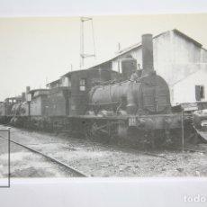 Postales: POSTAL DE TREN - Nº 4021 - LOCOMOTORA VAPOR 030 2134 - BARCELONA, POBLE NOU 1967 - EUROFER. Lote 147154914