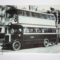 Postales: POSTAL DE BUS - Nº 4056 - COLECCIÓN VIEJAS GLORIAS COCHE 296 LINEA D - PL. URQUINAONA 1934 - EUROFER. Lote 144338594
