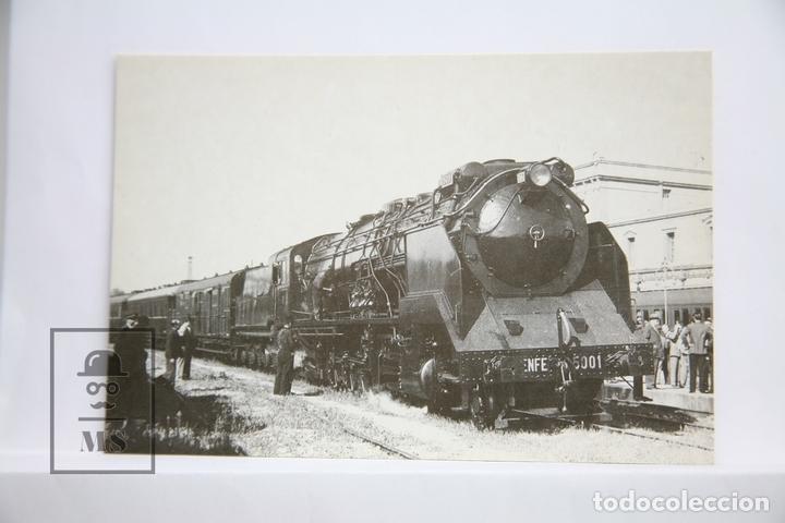 POSTAL DE TREN - Nº 4094 - LOCOMOTORA VAPOR 151/3101 - VILANOVA I LA GELTRÚ 1942 - EUROFER (Postales - Postales Temáticas - Trenes y Tranvías)