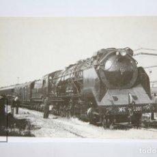 Postales: POSTAL DE TREN - Nº 4094 - LOCOMOTORA VAPOR 151/3101 - VILANOVA I LA GELTRÚ 1942 - EUROFER. Lote 171650342