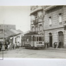 Postales: POSTAL DE TRANVÍA - Nº 4099 - TRANVÍAS DE LA CORUÑA COCHE 73 - PL. PONTEVEDRA 1959 - OSRAM - EUROFER. Lote 145941428