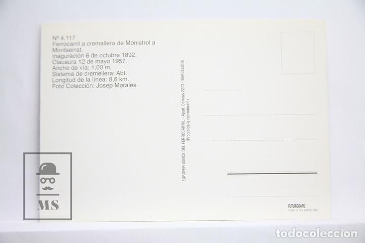 Postales: Postal de Tren - Nº 4117 - Ferrocarril Cremallera Monistrol a Monteserrat - Eurofer - Foto 2 - 171650354