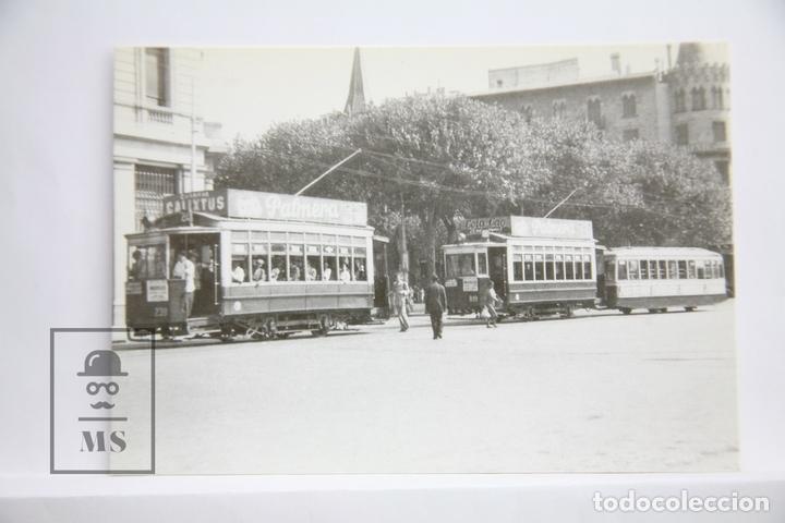 POSTAL DE TRANVÍA - Nº 4128 - TRANVÍAS DE BARCELONA COCHE 239 - PL. CATALUÑA 1949 - COLACAO- EUROFER (Postales - Postales Temáticas - Trenes y Tranvías)