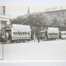 Postales: POSTAL DE TRANVÍA - Nº 4128 - TRANVÍAS DE BARCELONA COCHE 239 - PL. CATALUÑA 1949 - COLACAO- EUROFER. Lote 163308634