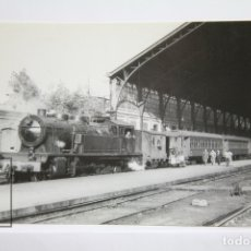 Postales: POSTAL DE TREN - Nº 4161 - LOCOMOTORA VAPOR SERIE 242-0231/0290 - EST. DELICIAS 1965 - EUROFER. Lote 287997688