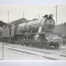 Postales: POSTAL DE TREN - Nº 4259 - LOCOMOTORA VAPOR 231/2008 - MIRANDA DE EBRO 1966 - EUROFER. Lote 194544636