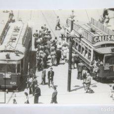 Postales: POSTAL DE TRANVÍA - Nº 4262 - TRANVÍA 232 COCHE 543 LÍNEA 64 - CALLE PELAYO 1946 CALISAY - EUROFER. Lote 253617870