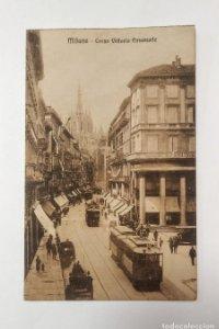 Tranvías en Milán Italia Corso Vittorio Emanuele