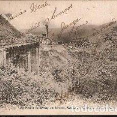 Postales: BRASIL & CIRCULADO, SERRA DE SANTOS, SAO PAULO FERROCARRIL, SANTOS, LISBOA, OPORTO 1906 (8866). Lote 146827442