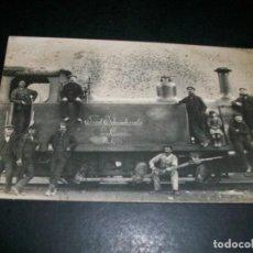 Postales: POSTAL FOTOGRAFICA MAQUINA DE TREN 1909 FERROCARRIL. Lote 146989154