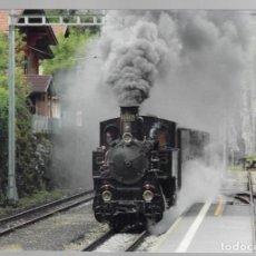 Postales: DAMPZUG AUF DER STATION RINGGENBERG - FOTO: MANDRED JAGGI. Lote 147085746