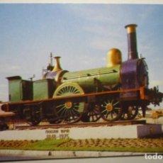 Postales: POSTAL RENFE-1º LOCOMOTORA EN ESPAÑA. Lote 148780170