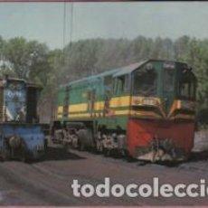 Postales: POSTAL TREN - FERROCARRIL - PONFERRADA VILLABLINO LEÓN DE MACOSA LOCOMOTORA DIESEL BB . Lote 151390150